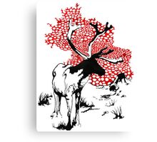 Reindeer drawing Canvas Print