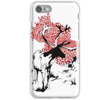 Reindeer drawing iPhone Case/Skin