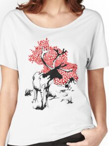 Reindeer drawing Women's Relaxed Fit T-Shirt