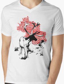 Reindeer drawing Mens V-Neck T-Shirt