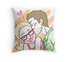 Fluffy Kisses Throw Pillow