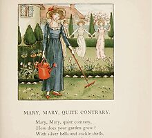 The April Baby's Book of Tunes by Elizabeth art Kate Greenaway 1900 0053 Mary Mary Qite Contrary by wetdryvac
