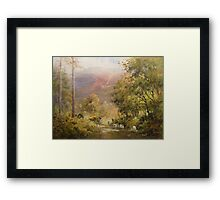 Between the Trees, Cumbria, England Framed Print