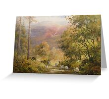 Between the Trees, Cumbria, England Greeting Card