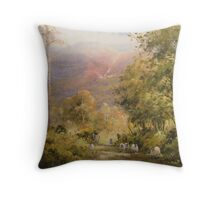 Between the Trees, Cumbria, England Throw Pillow