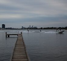 Water Skiing on the Canning River by Stephen Horton