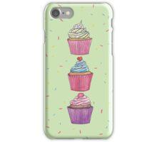 Cupcakes & Brush Strokes iPhone Case/Skin