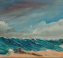 Monster at Hemmick Beach, Cornwall UK by Linda Ridpath