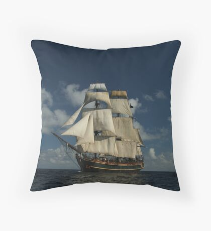 Sails on the Caribbean Throw Pillow