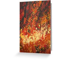 Inferno Abstract 1 Greeting Card