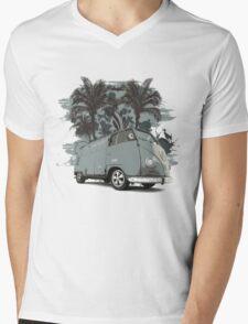 Classic Split Screen Camper T-Shirt Mens V-Neck T-Shirt
