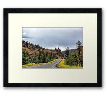 Yellowstone Road, Wyoming, USA Framed Print