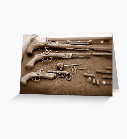 Civil War Guns Greeting Card