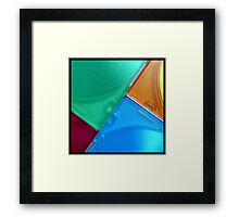 coloured angles Framed Print