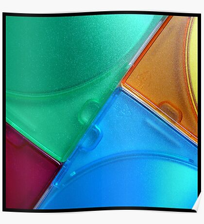 coloured angles Poster