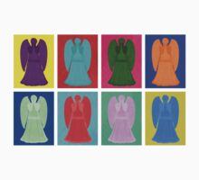 Weeping angels Pop Art Colour Kids Clothes