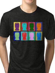Weeping angels Pop Art Colour Tri-blend T-Shirt
