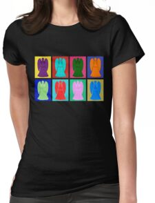 Weeping angels Pop Art Colour Womens Fitted T-Shirt
