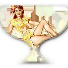 Vintage Pin Up-Available As Art Prints-Mugs,Cases,Duvets,T Shirts,Stickers,etc by Robert Burns