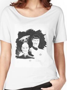 Startrek: Picard and Spock Women's Relaxed Fit T-Shirt