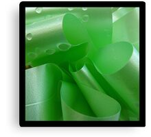 coiled green Canvas Print