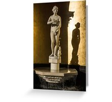 Venus de' Medici and Her Shadow  Greeting Card