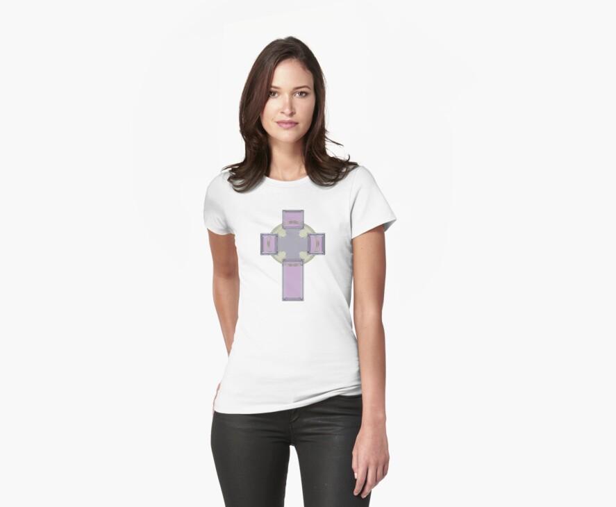 Celtic Cross--Lavender Pastel Tones by MarjorieB