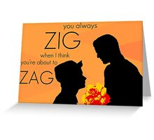 Klaine Flowers Greeting Card