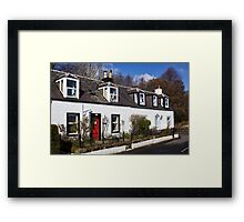Corrie Cottages Framed Print
