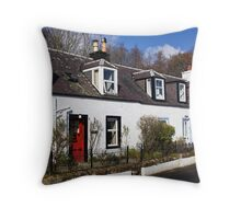 Corrie Cottages Throw Pillow