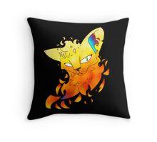 Fire Alone Throw Pillow