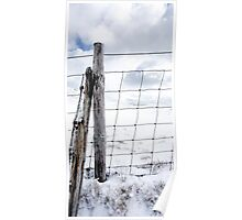 isolated fence Poster