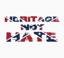 HERITAGE NOT HATE REBEL FLAG DESIGN by NP's Tees & Accsesories