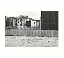 Urban segregation Art Print