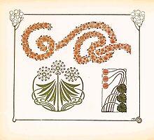 Maurice Verneuil Georges Auriol Alphonse Mucha Art Deco Nouveau Patterns Combinaisons Ornementalis 0042 by wetdryvac