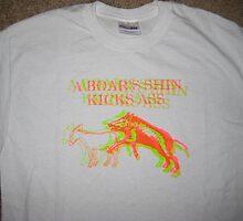 A Boar's Shin Kicks Ass shirt by Erik Diaz