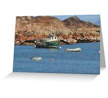 Fishing boat at Fionnphort, Scotland Greeting Card