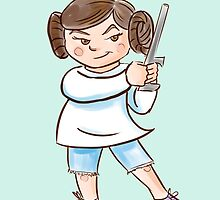 Backyard Star Wars - Princess Leia by Patricia Lupien