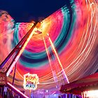 Fairground round at night by swhite99