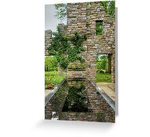 Chanticleer Castle Ruins Garden Greeting Card