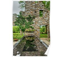 Chanticleer Castle Ruins Garden Poster