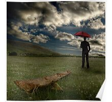 The Grass Grows Beneath Our Feet As We Stand And Watch For Rain Poster
