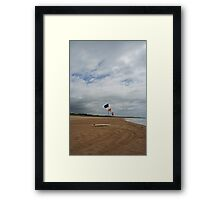 Flags and a surfboard Framed Print