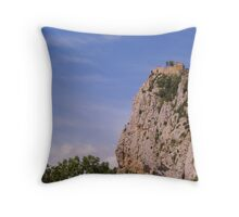 Château de Roquefixade Throw Pillow