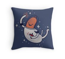 SPACE SAUSAGE IN OUTER SPACE, YAY!! Throw Pillow
