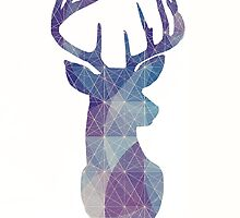 The Stag - Blue and Purple Galaxy1 by SClarkeArt