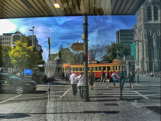 Christchurch Wanderings ( 1 ) Reflections on the Square by cullodenmist