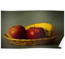 Cesto di mele e banane Poster