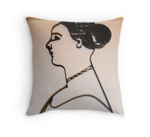 woman with mace Throw Pillow