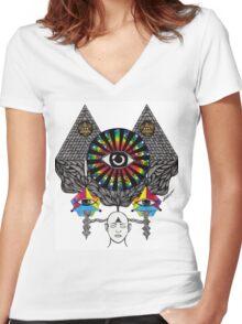 MY THIRD EYE Women's Fitted V-Neck T-Shirt